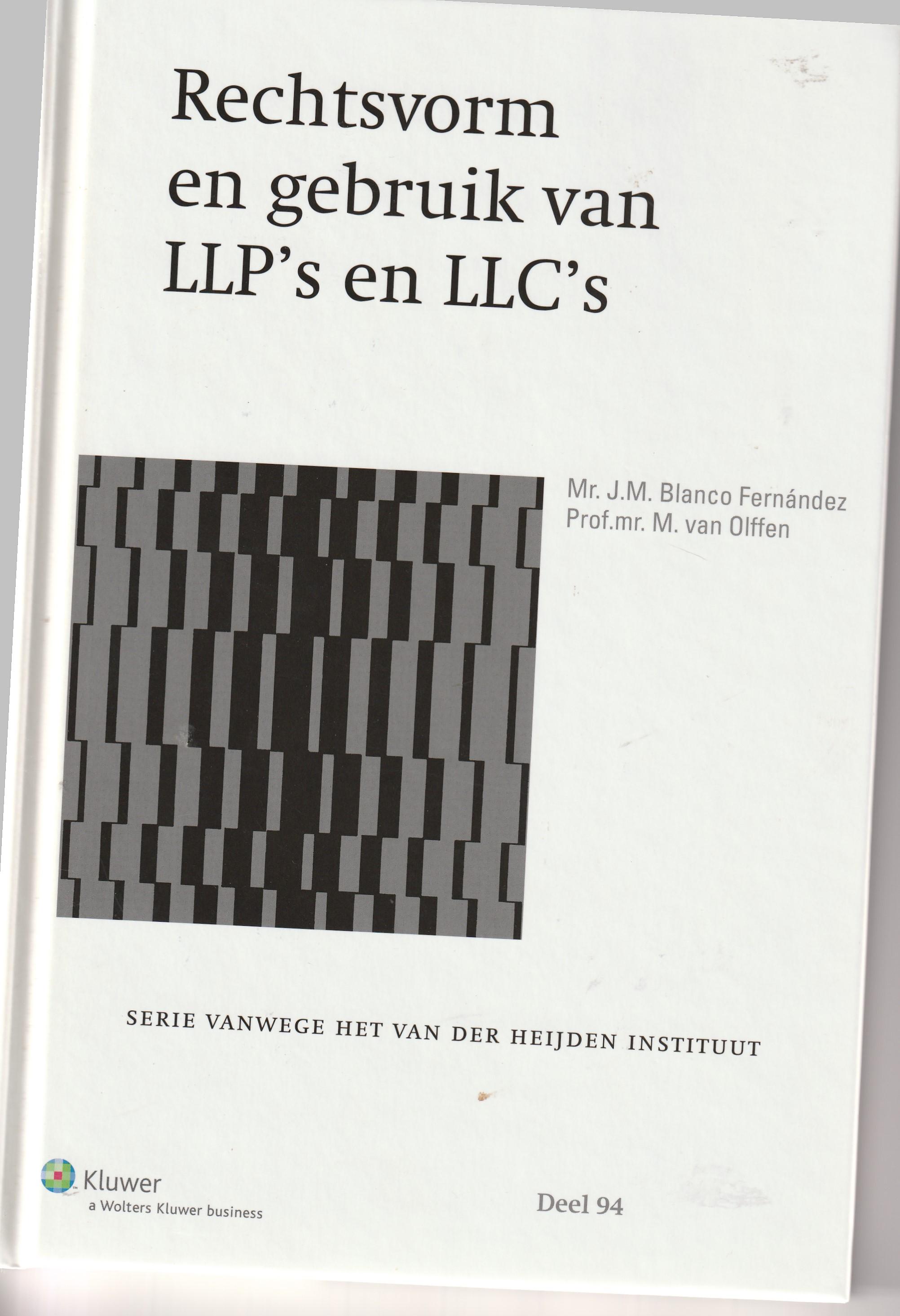 Rechtsvorm en gebruik van LLP's en LLC's; onderzoek in opdracht van het Wetenschappelijk Onderzoek- en Documentatiecentrum Ministerie van Justitie