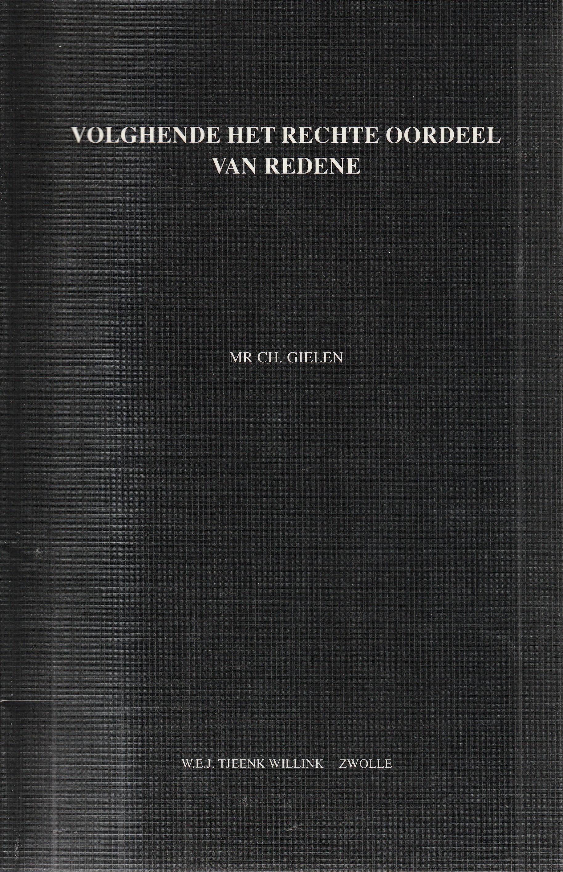 Volghende het rechte oordeel van redene - Rede 1993