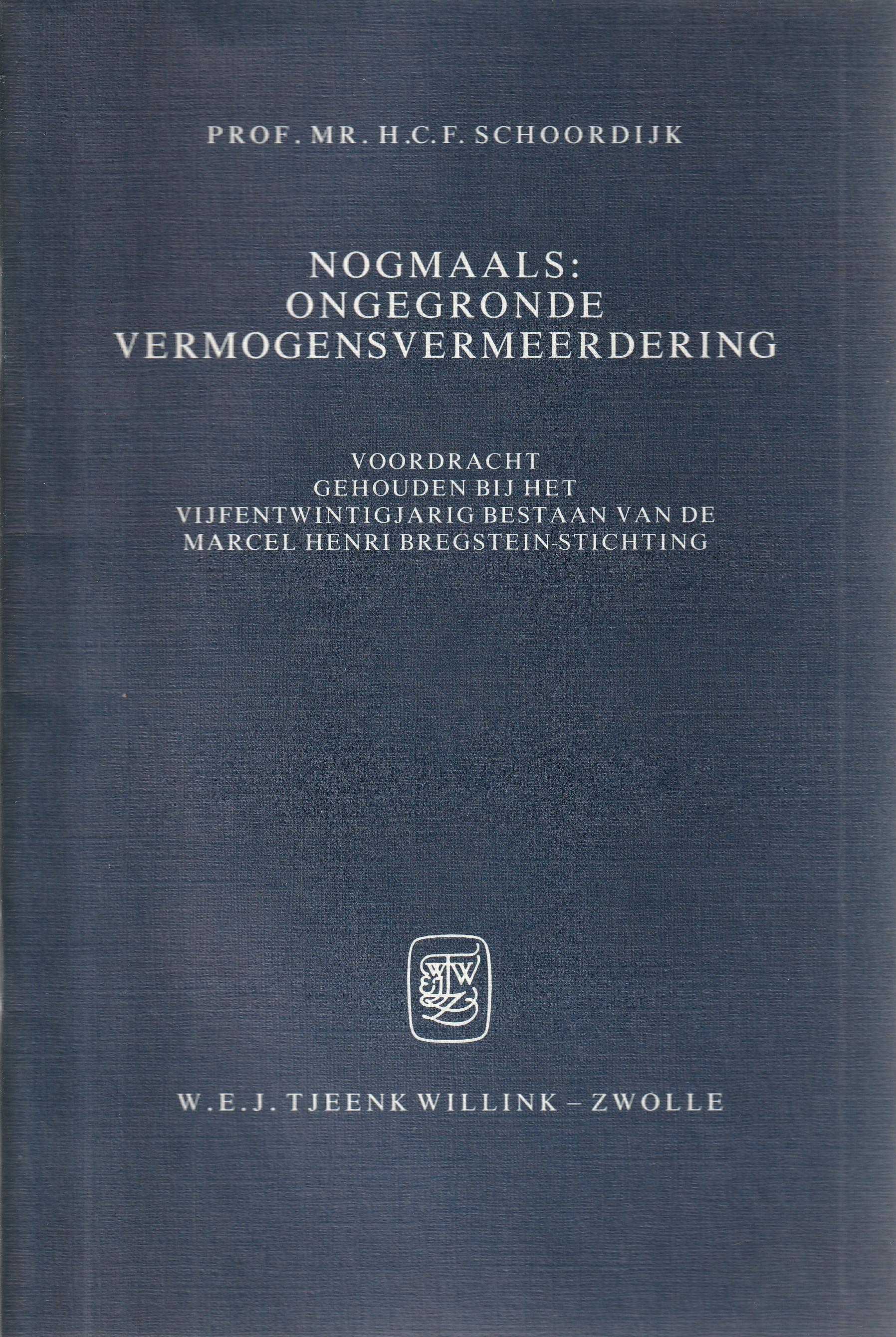 Nogmaals: ongegronde vermogensvermeerdering - Rede 1986