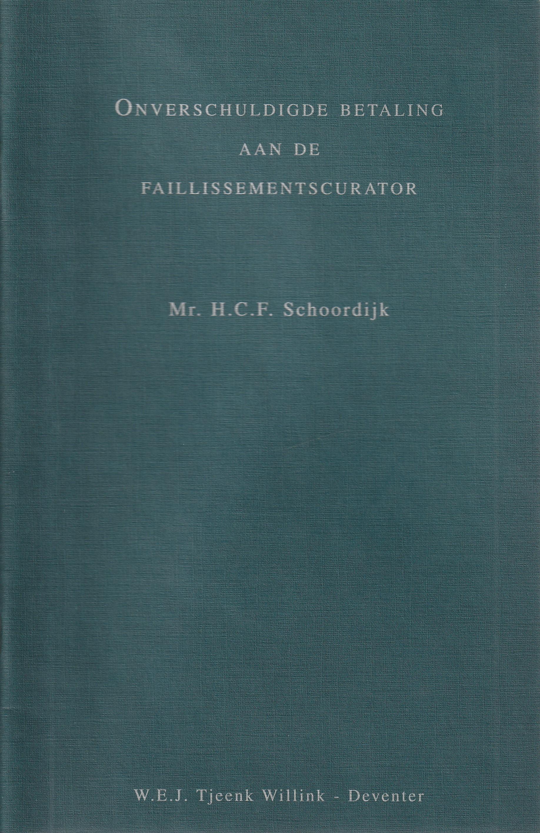 Onverschuldigde betaling aan de faillissementscurator - Rede 1997