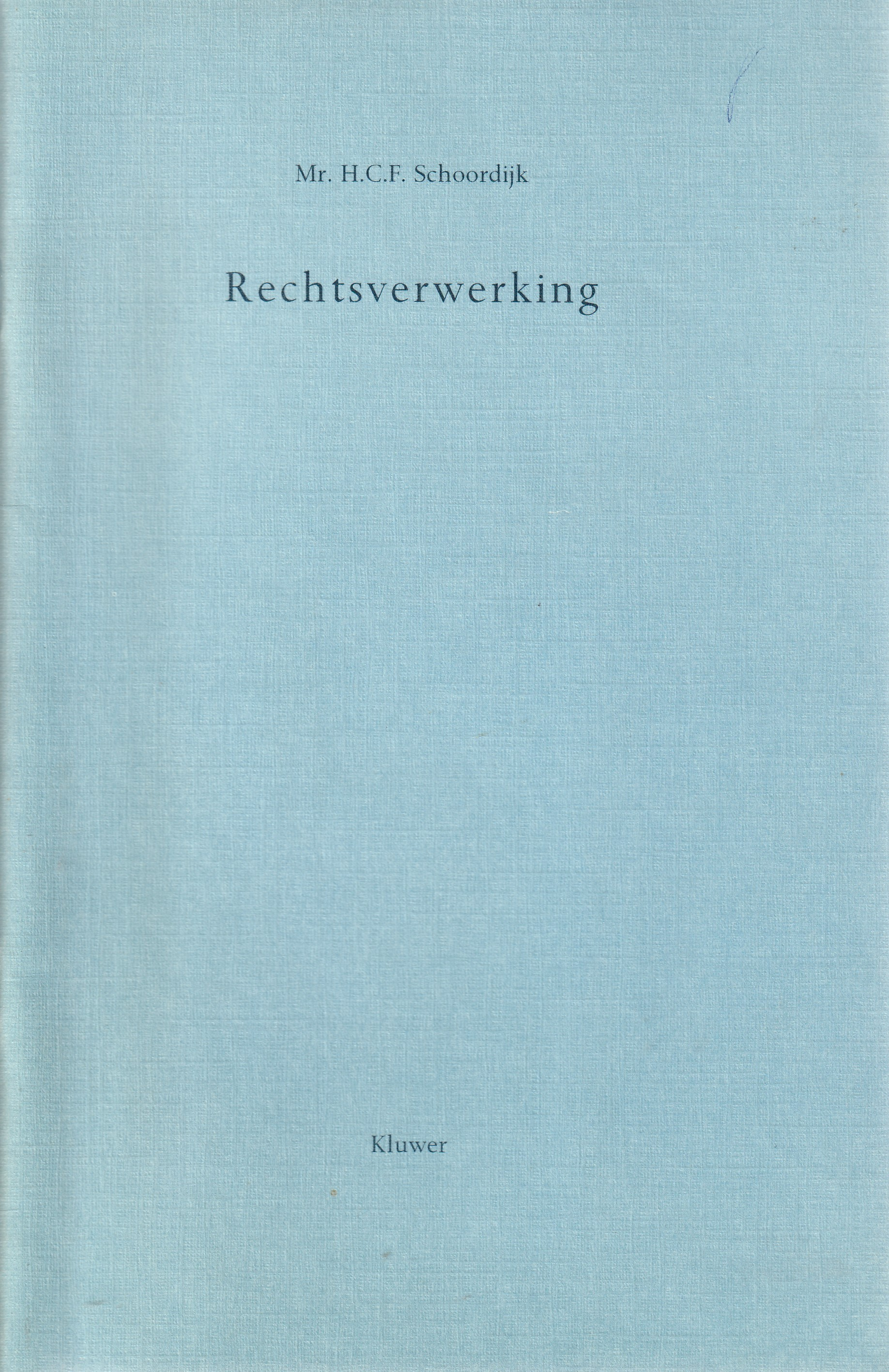 Rechtsverwerking - Rede 1991
