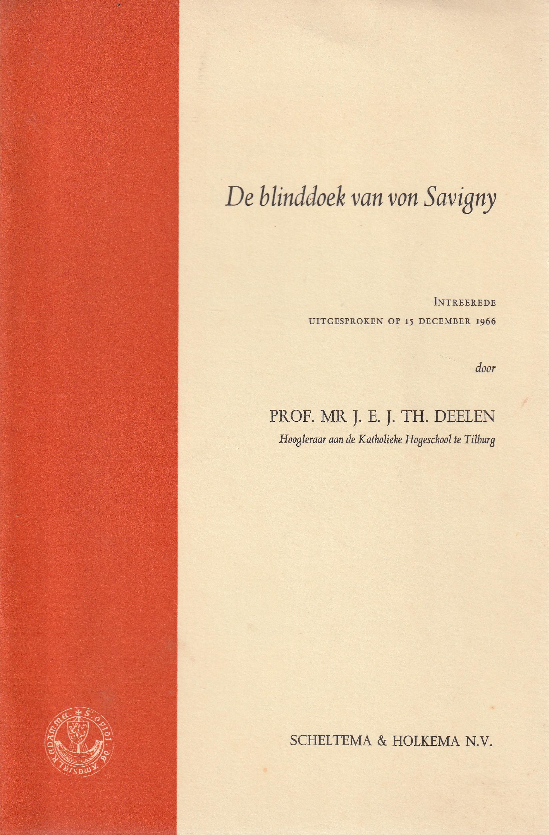 De blinddoek van von Savigny - Rede 1966