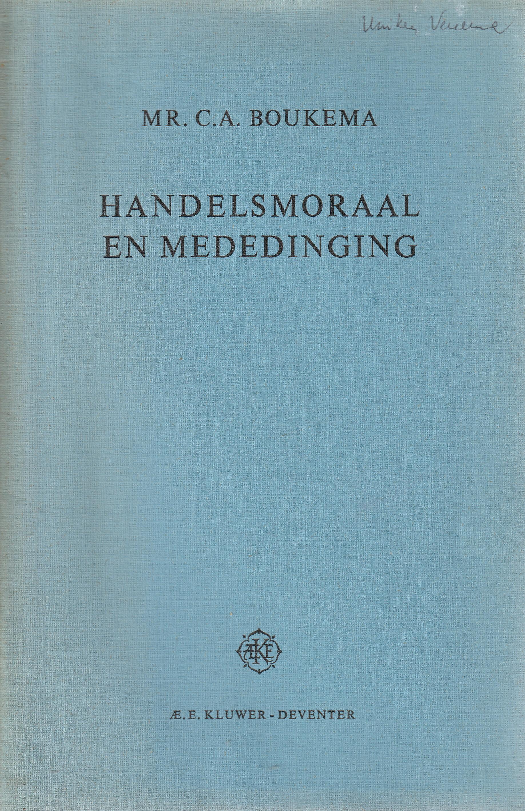 Handelsmoraal en mededinging - Rede 1968