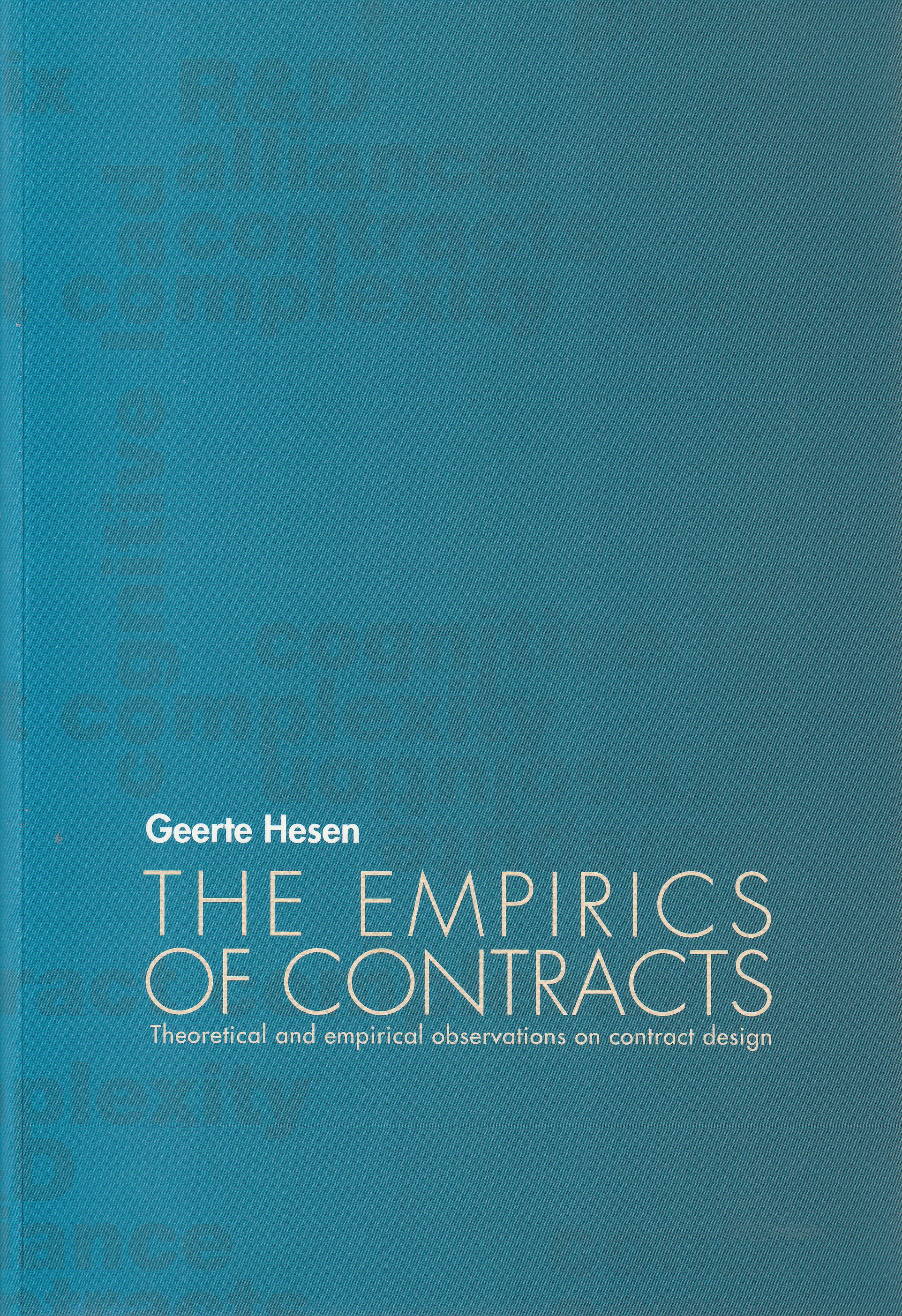 The Empirics of Contracts. Diss.