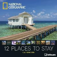 National Geographic 12 Places to stay 2018 Broschürenkalender