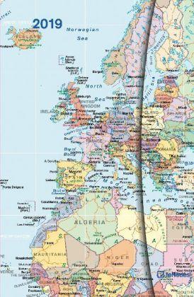 World Maps 2019 Magneto Diary small