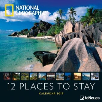 National Geographic 12 Places to stay 2019 Broschürenkalender