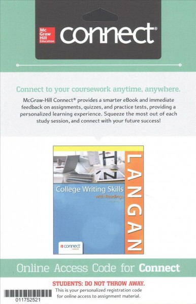 Langan's College Writing Skills With Readings Connect Access Card