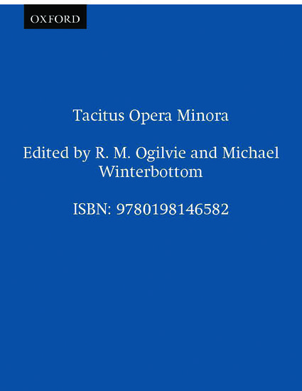 Tacitus Opera Minora