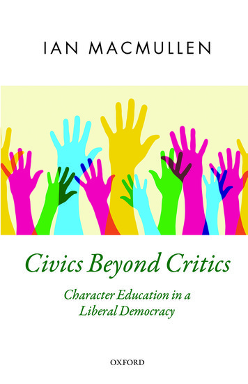 Oxford Political Theory: Civics Beyond Critics