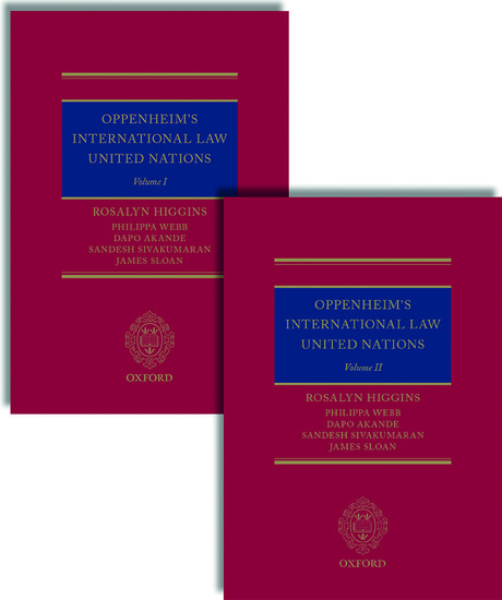 Oppenheim's International Law: United Nations