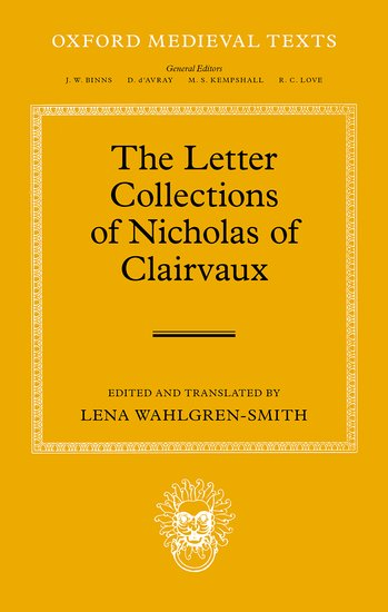 The Letter Collections of Nicholas of Clairvaux