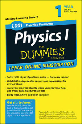 1,001 Physics I Practice Problems for Dummies Access Code