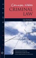 Course Notes: Criminal Law