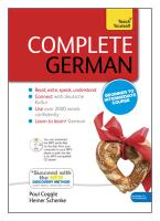Complete German Beginner to Intermediate Book and Audio Cour