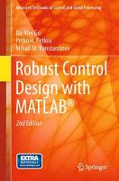 Robust Control Design with MATLAB (R)