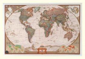 National Geographic wereldkaart - antiek