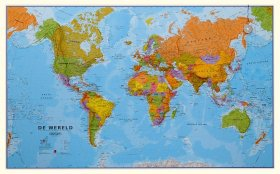 Wereldkaart Politiek Nederlandstalig Maps International