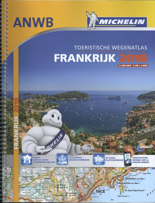 Atlas Michelin ANWB Frankrijk 2018