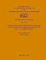 Koptische dokumentarische Texte aus der Papyrussammlung der Österreichischen Nationalbibliothek