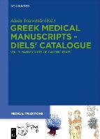 Greek Medical Manuscripts - Diels' Catalogue