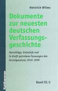 Dokumente zur Entstehung des Grundgesetzes 1948 und 1949 / Die Protokolle des Verfassungskonvents von Herrenchiemsee