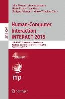 Human-Computer Interaction - INTERACT 2015