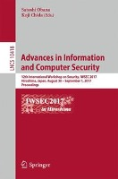 Security and Cryptology: Advances in Information and Computer Security