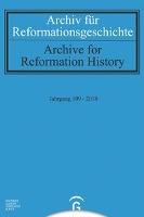 Archiv für Reformationsgeschichte - Aufsatzband