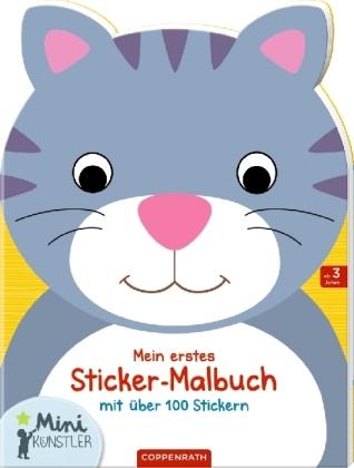 Mein erstes Sticker-Malbuch: Katze
