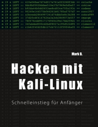 hacken mit kali linux door b mark. Black Bedroom Furniture Sets. Home Design Ideas
