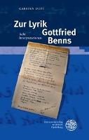 Zur Lyrik Gottfried Benns