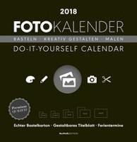 Foto-Bastelkalender 2018 groß datiert, schwarz