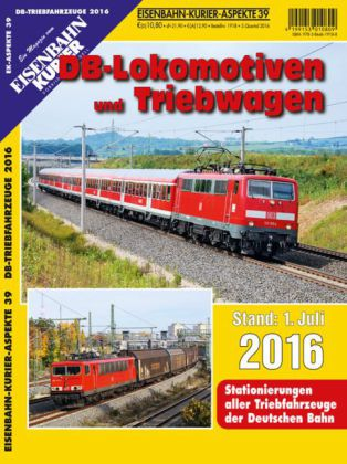 DB-Lokomotiven und Triebwagen - Stand 1. Juli 2016