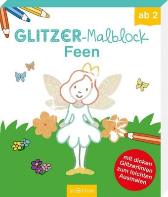 Glitzer-Malblock Feen