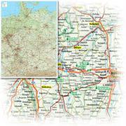 BACHER Miniposter, Straßenkarte Deutschland