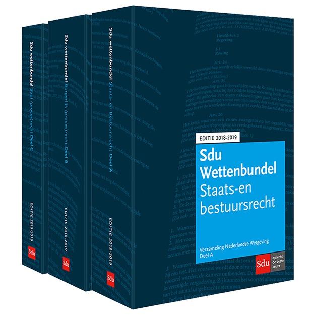Sdu Wettenbundel Editie 2018-2019