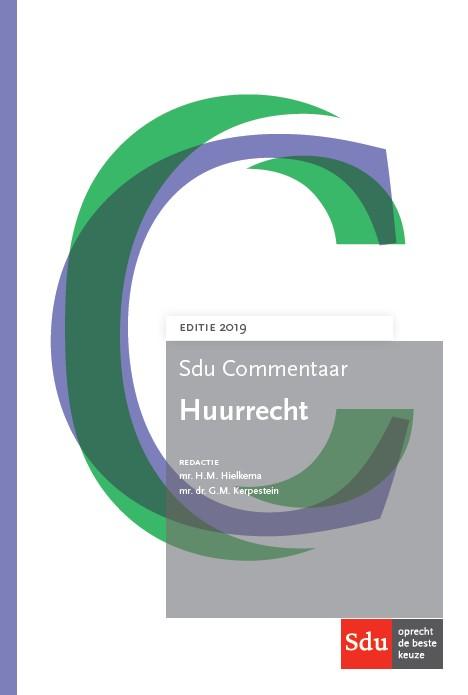 Sdu Commentaar Huurrecht. Editie 2019