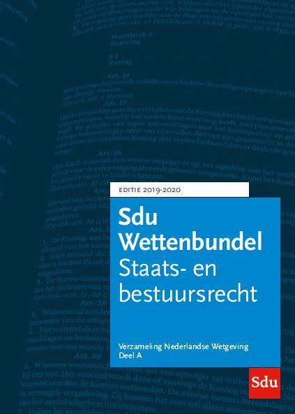 Sdu Wettenbundel 2019-2020 (3 banden)