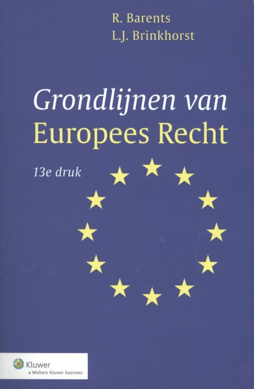 Grondlijnen van Europees recht (Barents)
