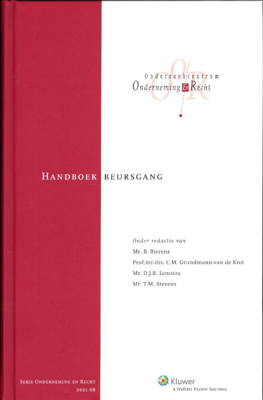 Onderneming en recht Handboek beursgang