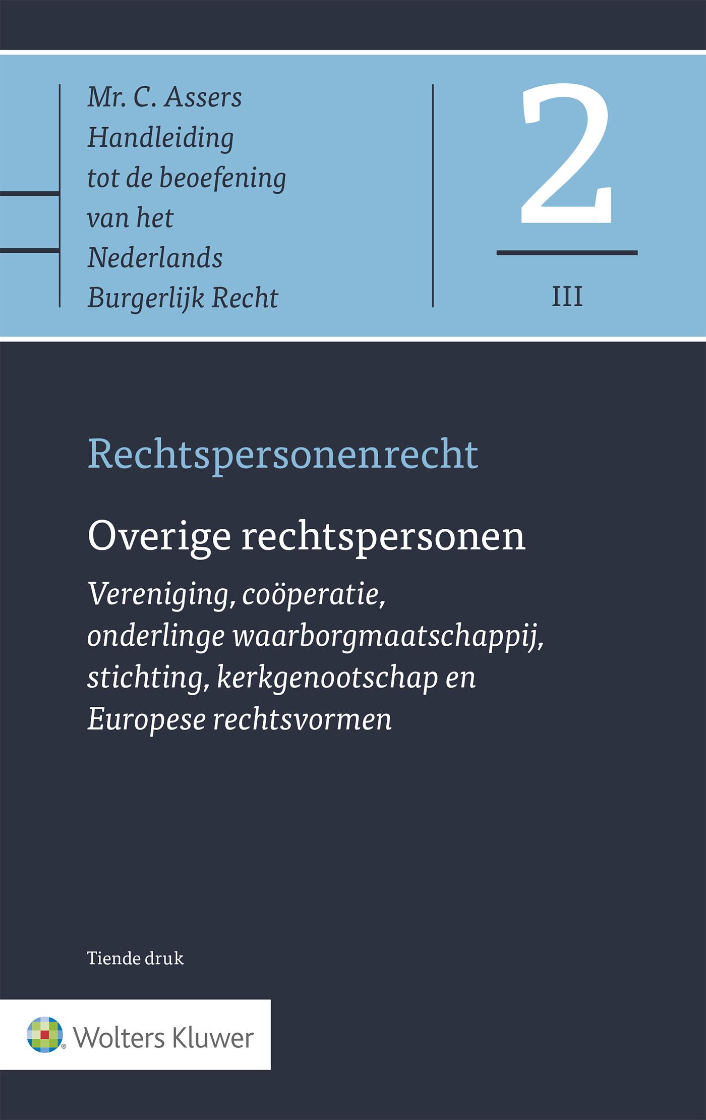 Asser 2-III Rechtspersonenrecht - Overige rechtspersonen