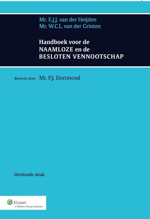Handboek voor de naamloze en de besloten vennootschap (Heijden/Dortmond)