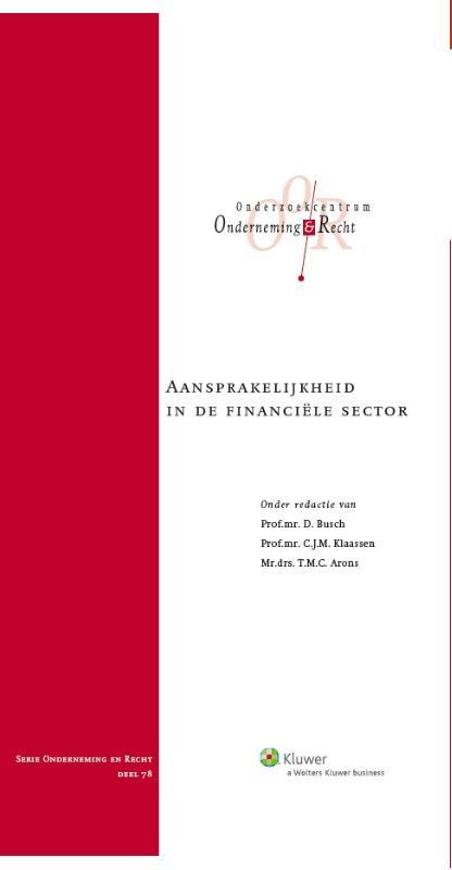 Onderneming en recht Aansprakelijkheid in de financiële sector