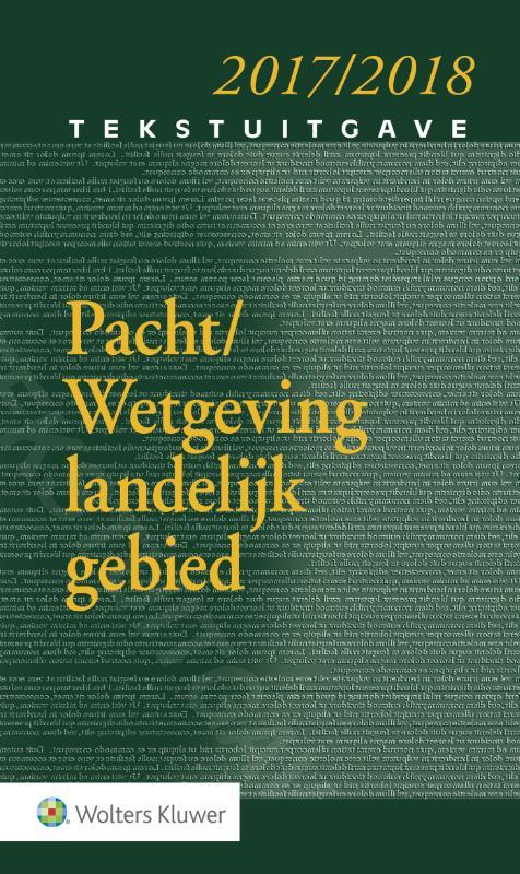 Tekstuitgave Pacht - Wetgeving landelijk gebied