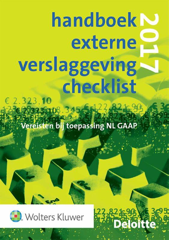 Handboek Externe Verslaggeving Checklist 2017