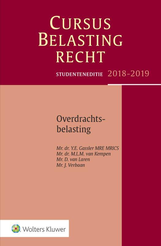 Studenteneditie Cursus Belastingrecht Overdrachtsbelasting 2018-2019