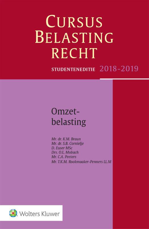 Studenteneditie Cursus Belastingrecht Omzetbelasting 2018-2019