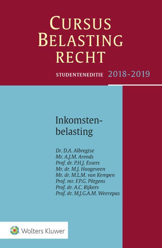 Studenteneditie Cursus Belastingrecht Inkomstenbelasting 2018-2019