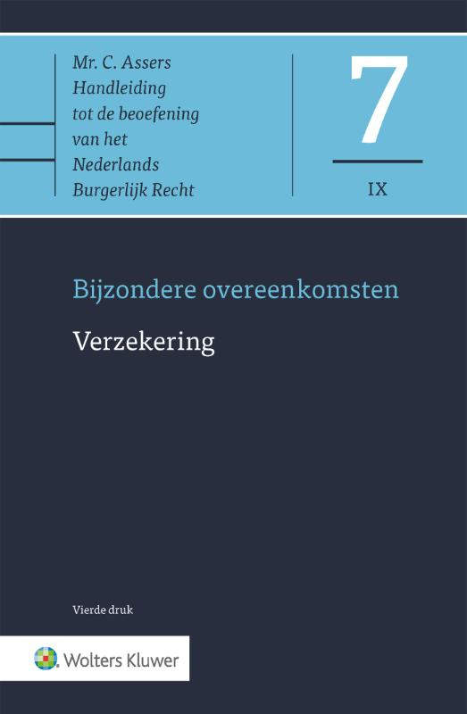 Asser 7-IX Bijzondere overeenkomsten - Verzekering